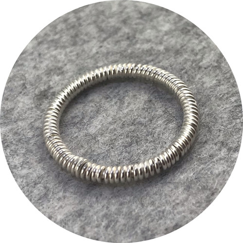 Laura Eyles - Rope Ring, sterling silver