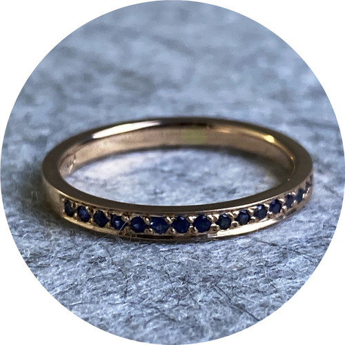 Ellinor Mazza - Royal Ring, 18ct rose gold, Australian blue sapphires