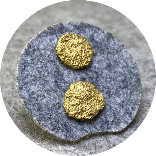Virginia Sprague - Unearthed series studs, 22ct gold plated sterling silver