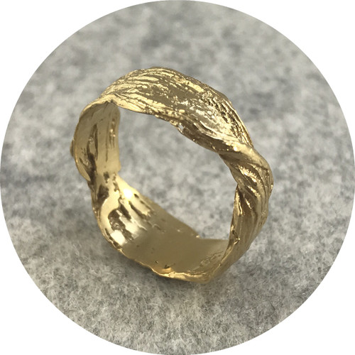 Antonia Field - Twist Ring, sterling silver, gold plated