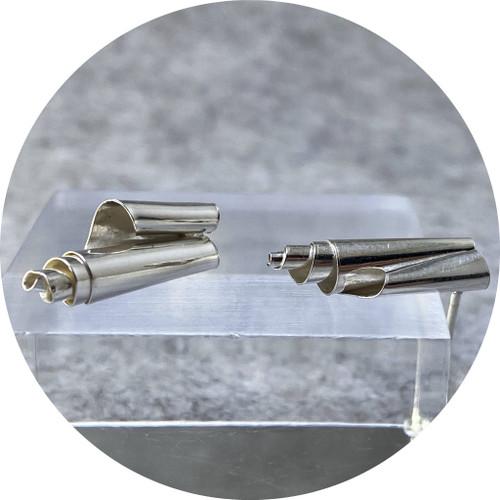 Nicola Knackstredt - Fine Silver Studs 1, fine silver, 925 silver