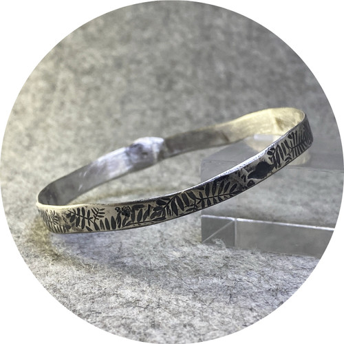 Claire Taylor - Silver oxidised bangle, sterling silver