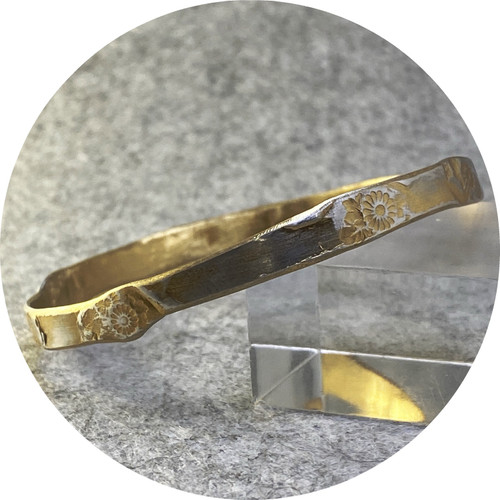 Claire Taylor - Silver yellow gold plated bangle, sterling silver, gold plate