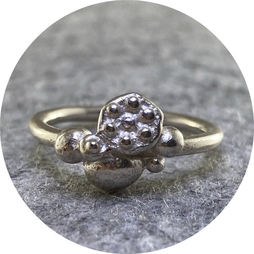Alison Jackson - Speckled Ring in Sterling Silver