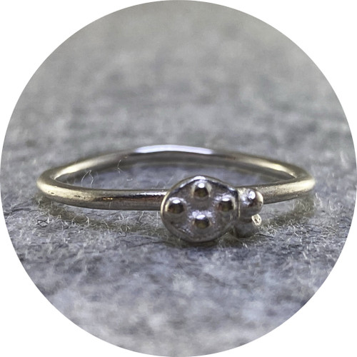 Alison Jackson - Speckled Ring in Sterling Silver with Thinner Band