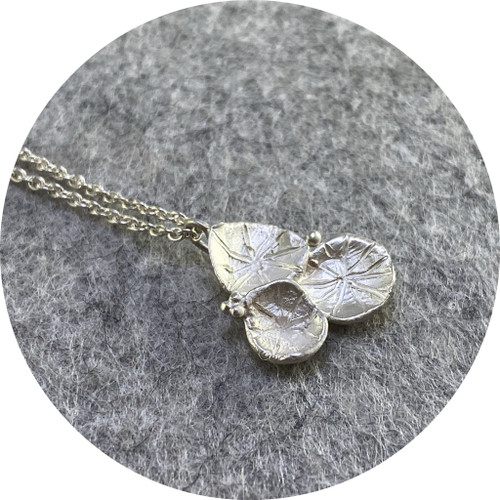 Danielle Lo - 'Cluster' Pendant in Fine Silver and Sterling Silver
