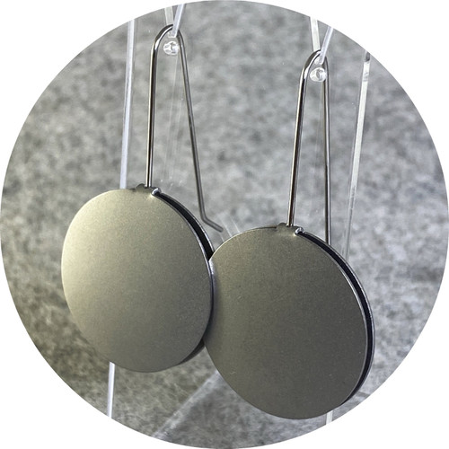 Ferro Forma - Circle Earrings (Small), stainless steel