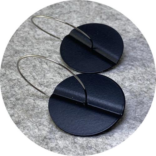 Ferro Forma - Centrefold Earrings (Large), stainless steel