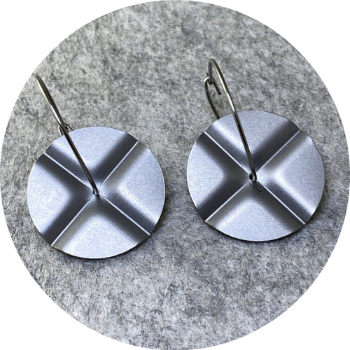 Ferro Forma - Four Fold Earrings (Large), stainless steel