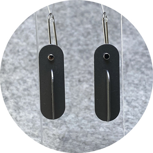Ferro Forma - Intersecting Earrings (Small), stainless steel