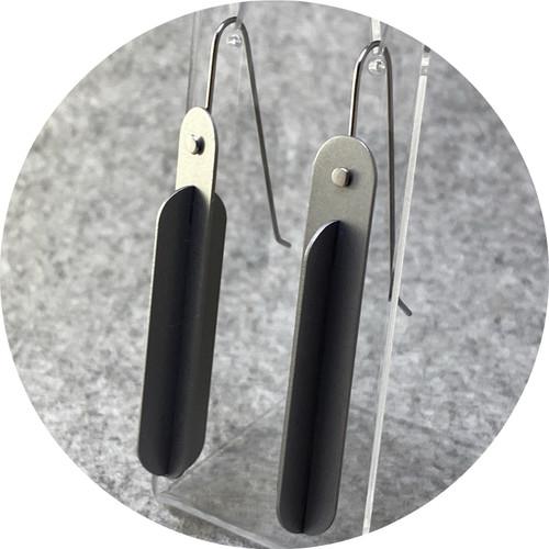 Ferro Forma - Intersecting Earrings (Large), stainless steel