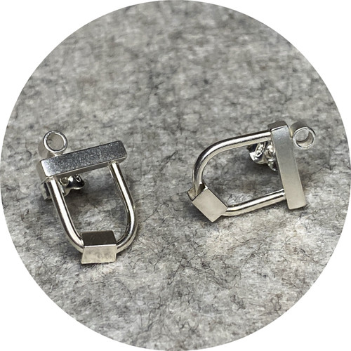 Danielle Barrie - Microbuggy Cosmic Studs, sterling silver