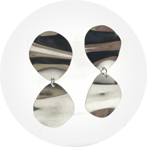 Ada Hodgson - Mini Fold Earrings Sterling Silver