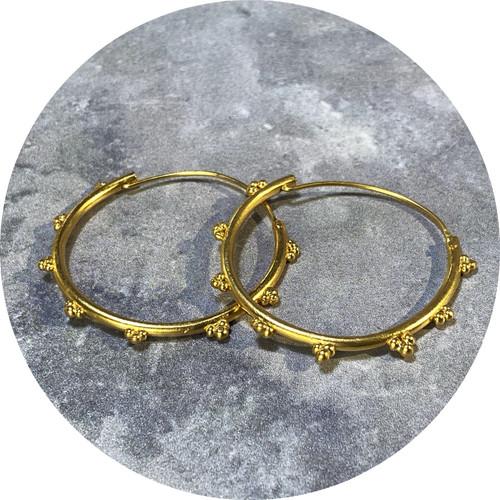 Katie Shanahan - 'Ray' Hoop Earrings, Sterling Silver, Gold Plated
