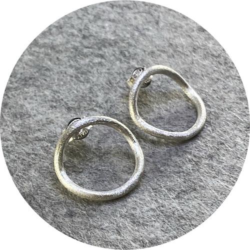 Sarra Tzijan - Big Circles Earrings (silver), sterling silver