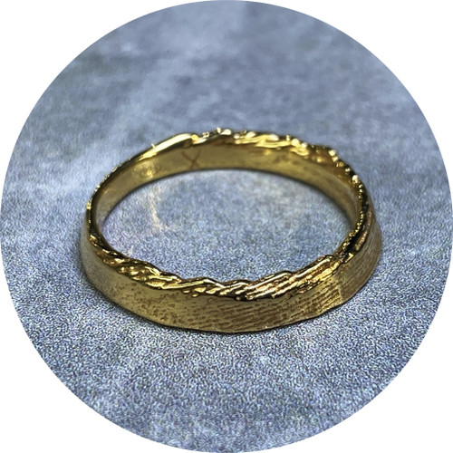 Melanie Joy- Atma Band, Sterling silver and hard yellow gold plated. size L.