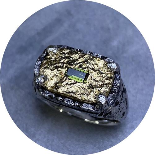 Albert Tse- Terra Signet, sterling silver, 18ct yellow gold, Australian sapphire