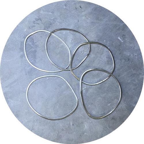 Ellinor Mazza- Geometrica bangles, sterling silver
