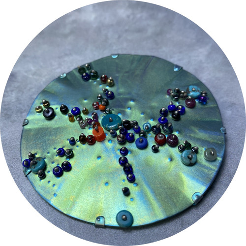 Amanda Croatto - Village on the Green, titanium, glass, fine silver, sterling silver, stainless steel