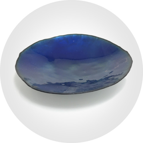 Ada Hodgson - Deep Ocean Trinket Tray. Enamel on copper