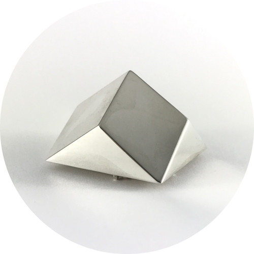 Danielle Kathleen - 'Crystal Geometries' Sterling Silver Brooch I