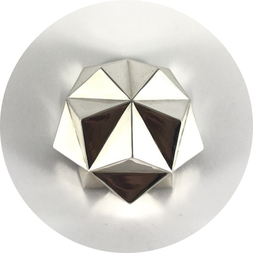 Danielle Kathleen - 'Crystal Geometries' Sterling Silver Brooch II