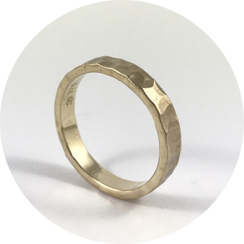 Aimee Sutanto- Winter Lake band. 9ct yellow gold. Size O
