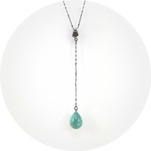 Valeria D'Annibale- Vertigo choker, oxidised sterling silver and Amazonite.