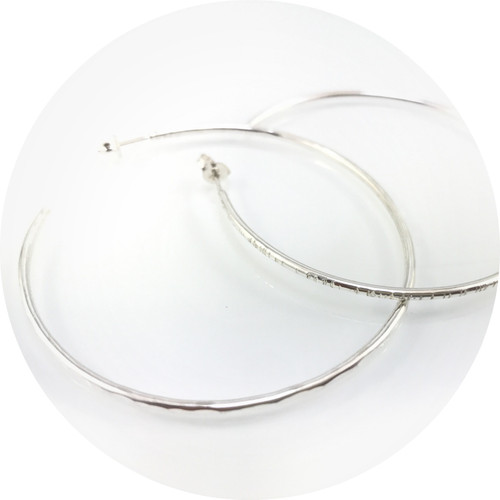 Emily Becher - Medium hoop earrings in sterling silver