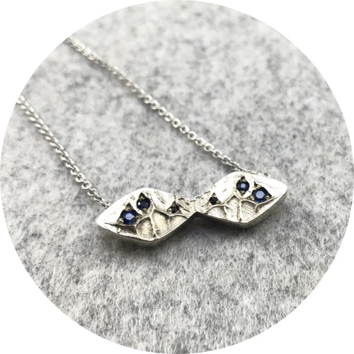 Susan McGinness - Kite Pendant in 9ct White Gold with 6 Australian Sapphires