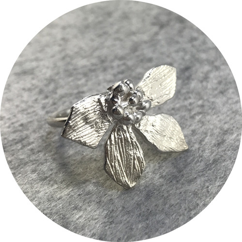 Lizzie Slattery- Blossom Ring. Sterling silver. size N