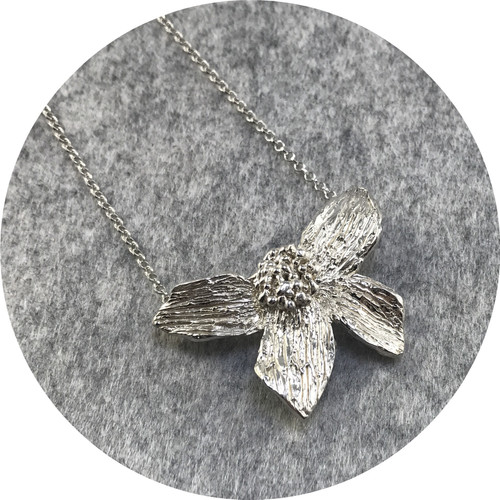 Lizzie Slattery- Blossom Necklace. Sterling silver.
