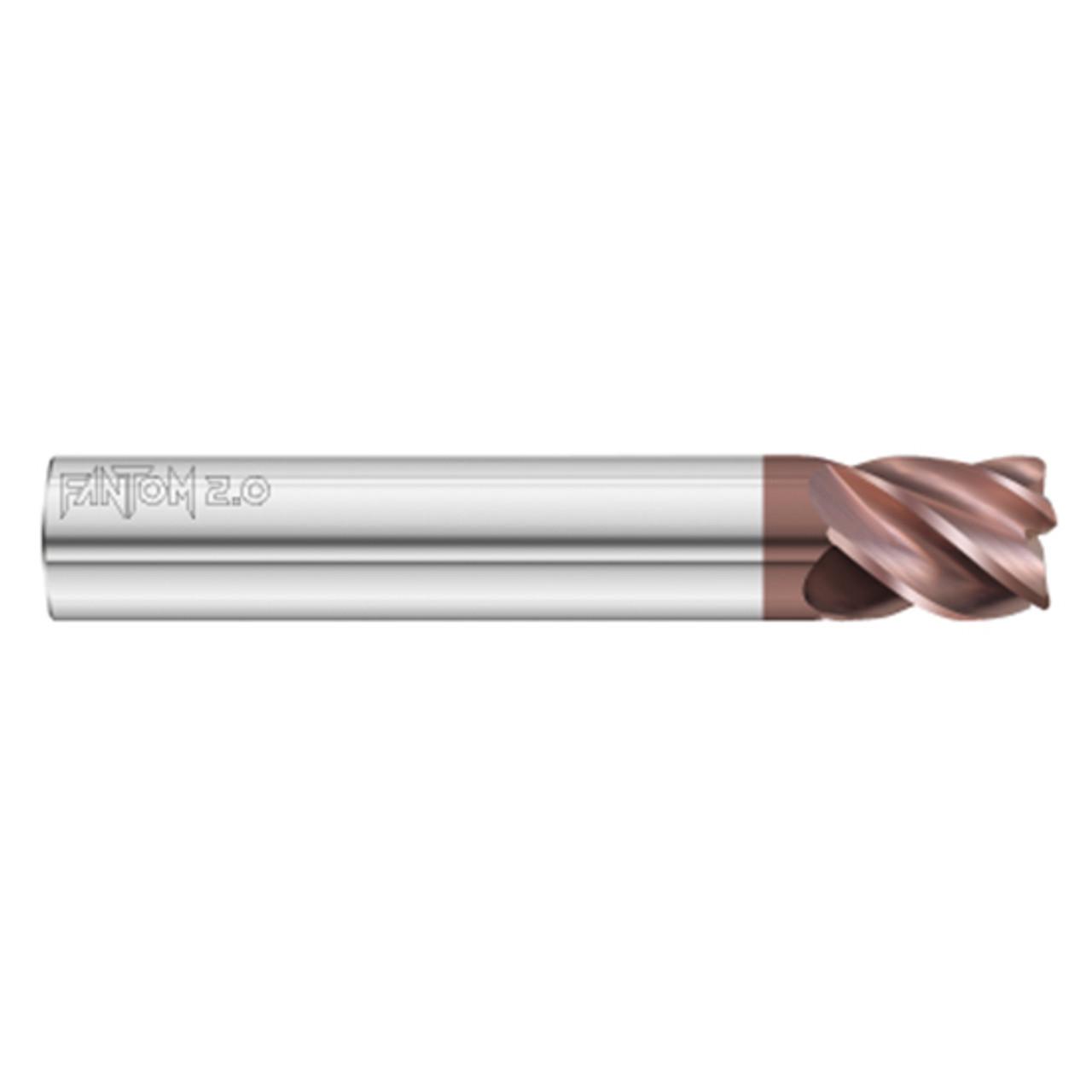 Fullerton Tool 37922 3//4 Diameter x 3//4 Shank x 1 LOC x 6 OAL 5 Flute FC20 Solid Carbide Radius End Mill