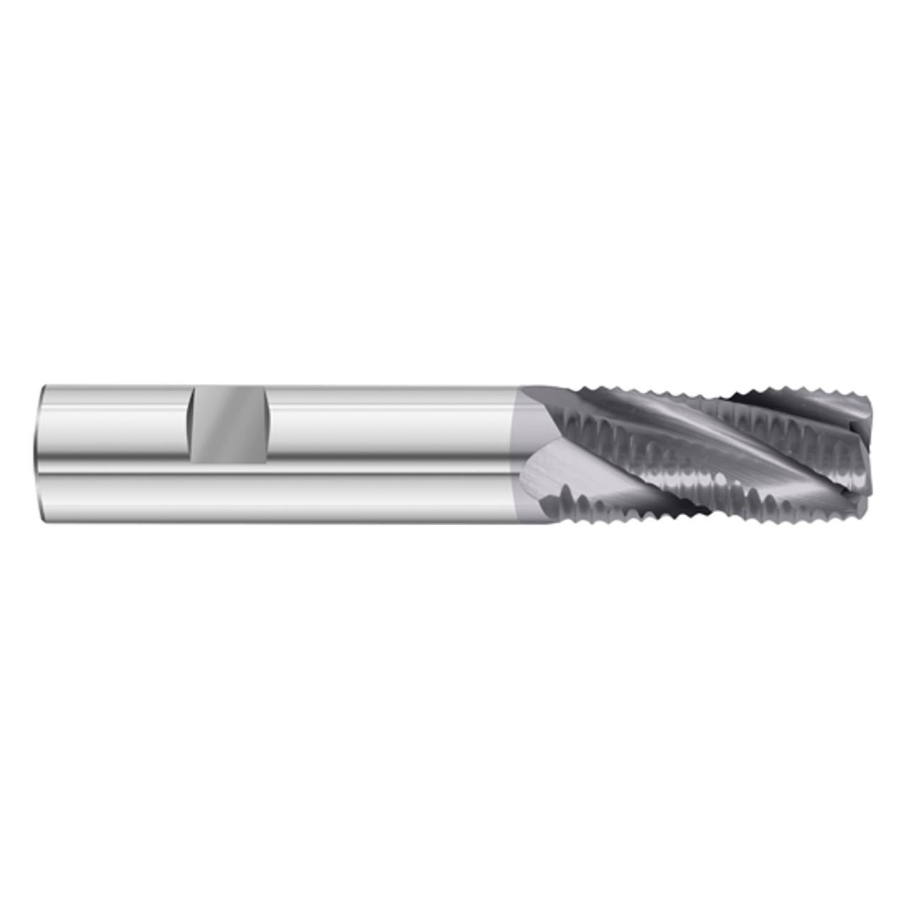 1//2 Diameter x 1//2 Shank x 1 LOC x 3 OAL 4 Flute TiAlN Solid Carbide Radius End Mill Fullerton Tool 33809