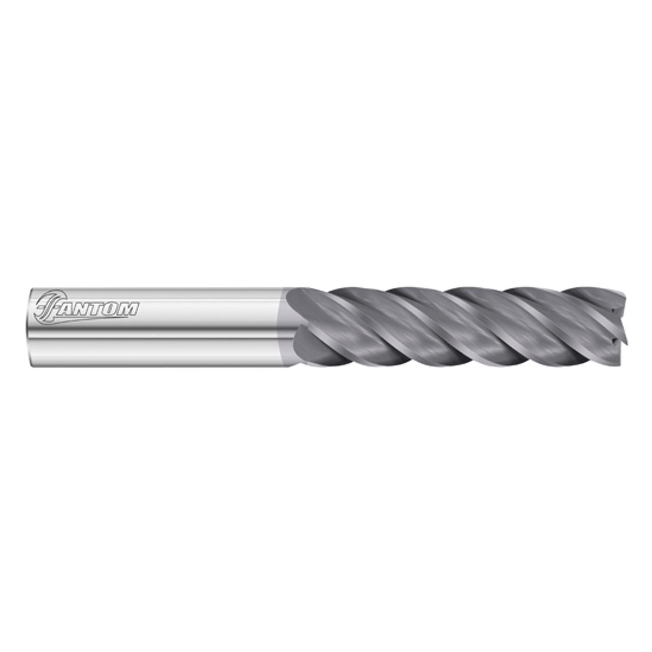 Fullerton Tool 34106 1//4 Diameter x 1//4 Shank x 3//4 LOC x 2-1//2 OAL 5 Flute FC18 Solid Carbide Radius End Mill