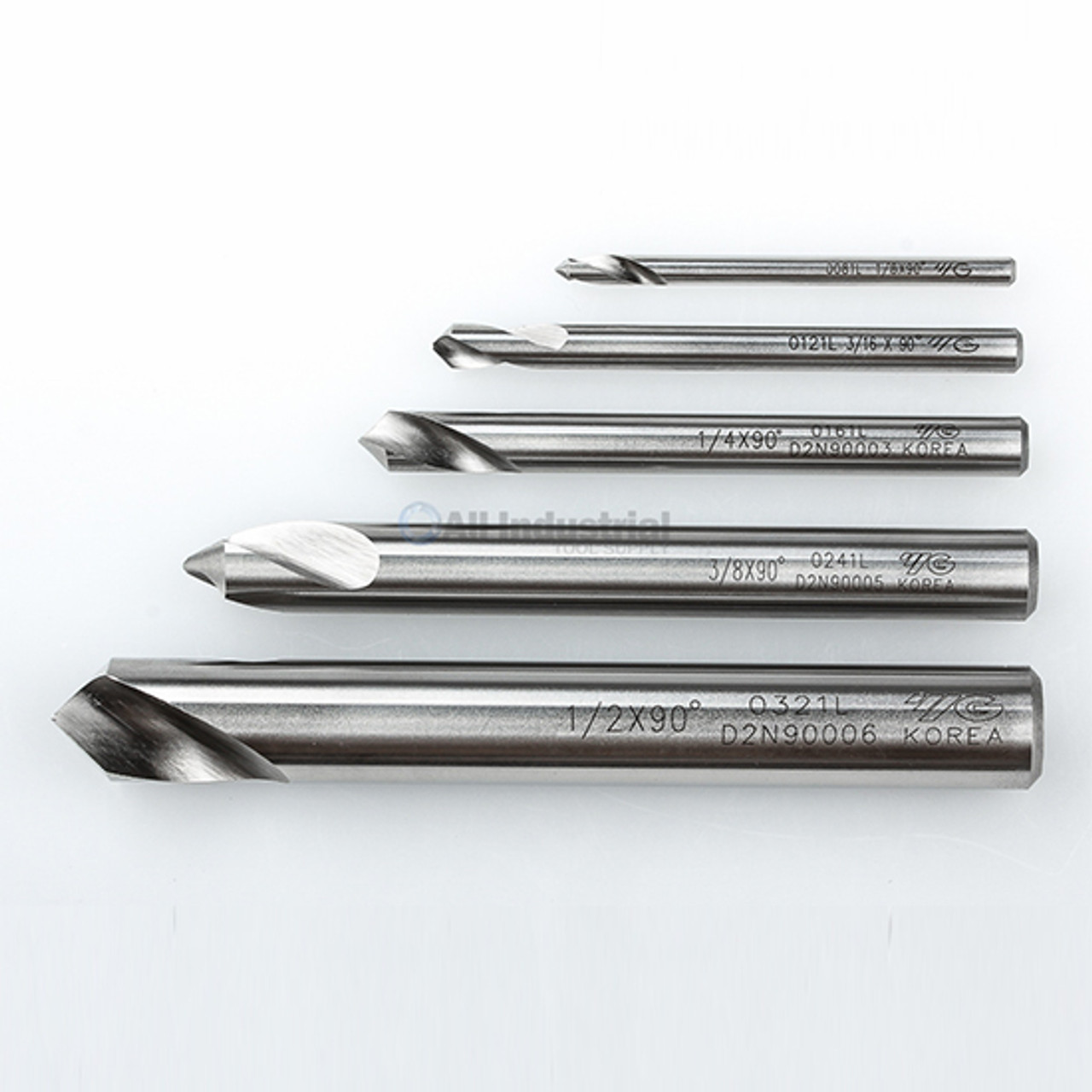 "YG1 NC Spotting Drill 8/% Cobalt HSS 1//8 to 1//2/"" 120 Degree 5 Pc Set CNC Machine"