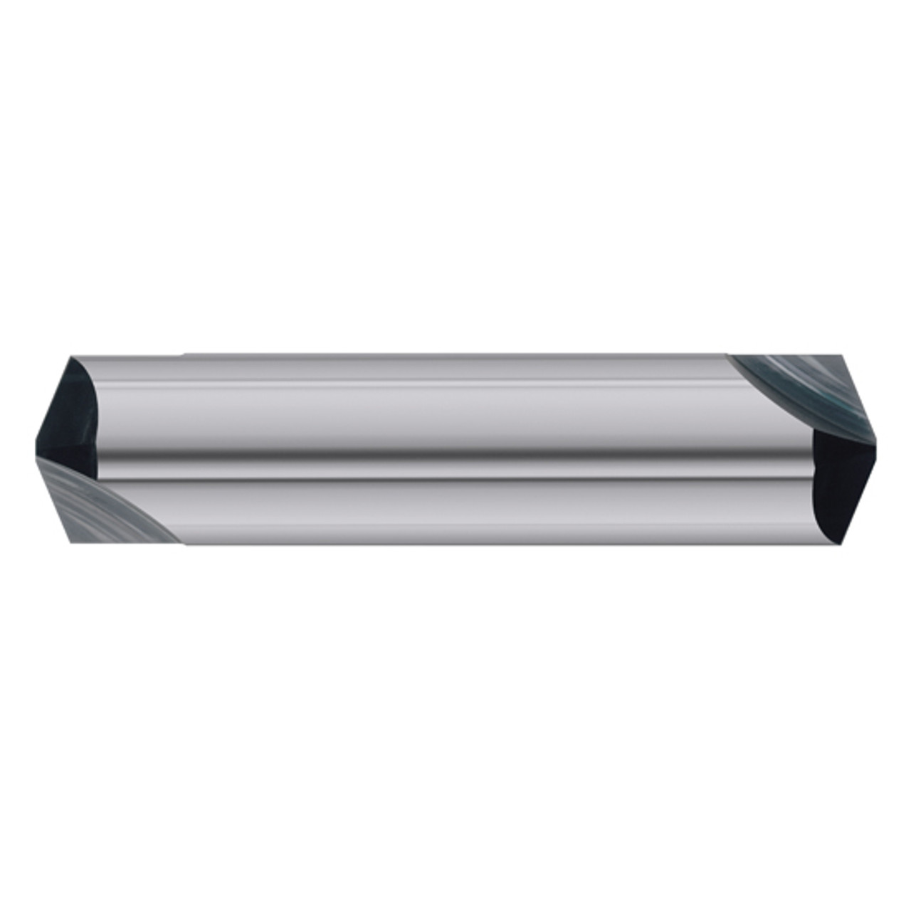 """1//4/"""" 2 FLUTE DOUBLE END 120 DEGREE TiAlN CARBIDE CHAMFER MILL"""