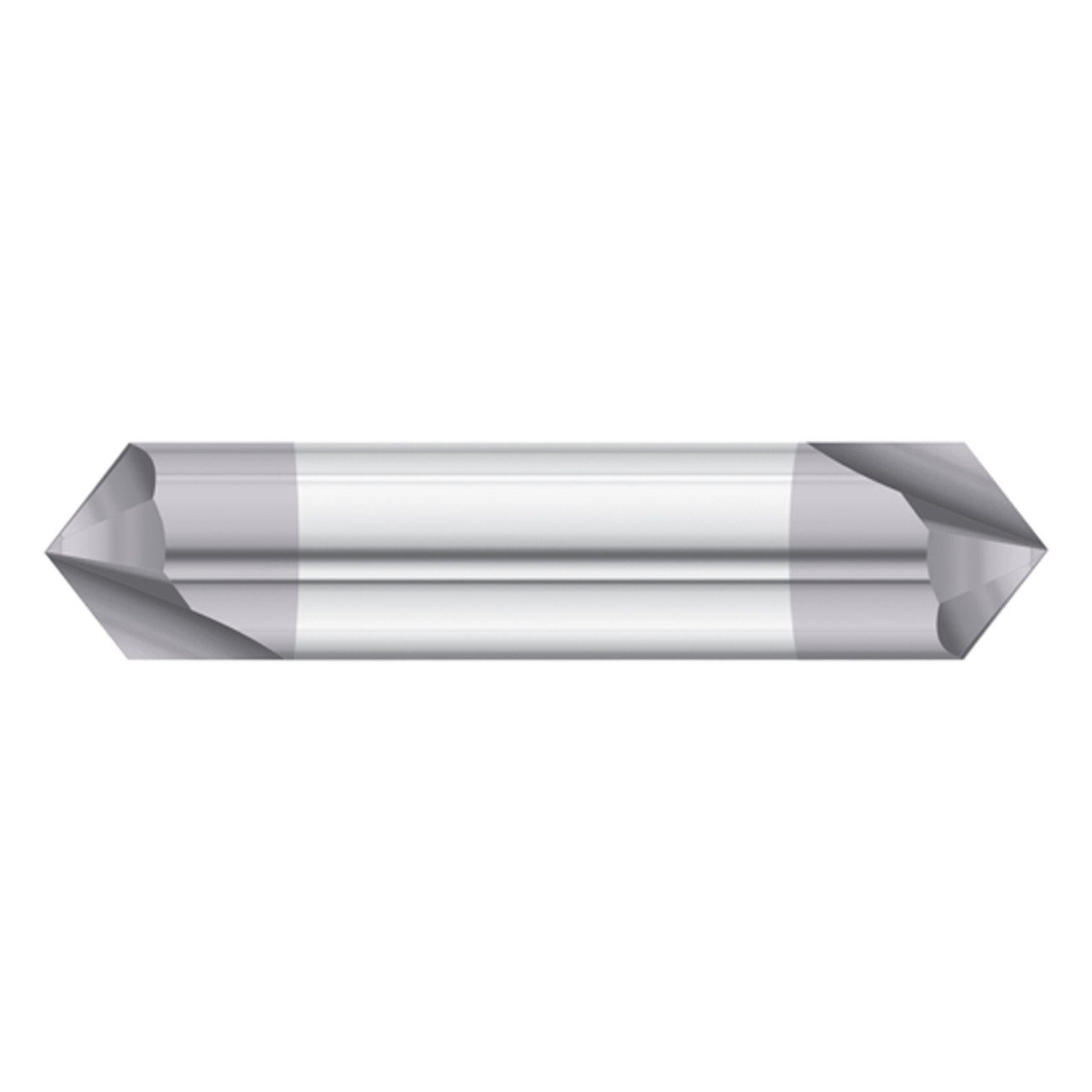 """DOUBLE END TiALN COATED 1//4/"""" 2 FLUTE 90 DEGREE CARBIDE CHAMFER MILL"""
