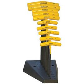Bondhus 13190   10pc Cushioned Grip T-Handle Hex Tool Set