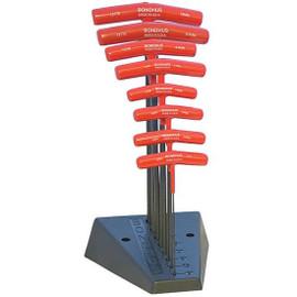 Bondhus 13189 | 8pc Metric Cushioned Grip T-Handle Hex Tool Set