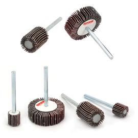 "Superior Abrasives 24802 | SHUR-KUT 3/8"" x 3/8"" x 1/8"" 120 Grit Aluminum Oxide Mounted Flap Wheel"
