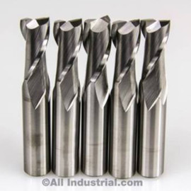 "All Industrial E5020020 | 5/16"" Diameter x 5/16"" Shank x 3/16"" LOC x 13/16"" OAL 2 Flute Uncoated Solid Carbide Square End Mill"