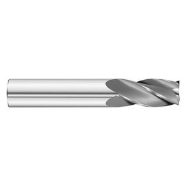 "All Industrial E5021024 | 3/8"" Diameter x 3/8"" Shank x 1"" LOC x 2-1/2"" OAL 4 Flute Uncoated Solid Carbide Square End Mill"