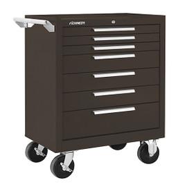 "Kennedy 297XB | 29"" 7-Drawer Roller Brown Cabinet"