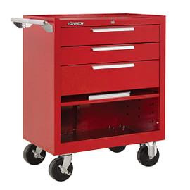 "Kennedy 273XR | 27"" 3-Drawer Roller Red Cabinet"