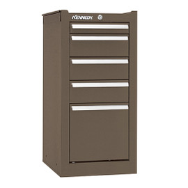 "Kennedy 185XB | 13-5/8"" 5-Drawer Brown Hang-On Cabinet"