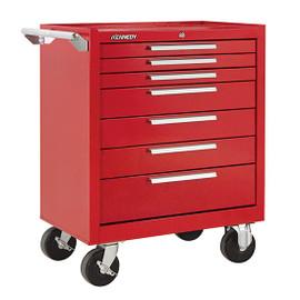 "Kennedy 277XR | 27"" 7-Drawer Roller Red Cabinet"