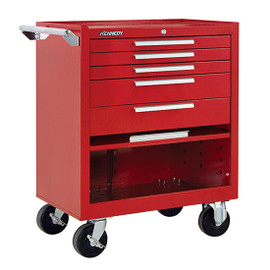"Kennedy 295XR | 29"" 5-Drawer Roller Red Cabinet"