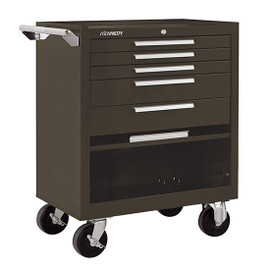 "Kennedy 275XB | 27"" 5-Drawer Roller Brown Cabinet"