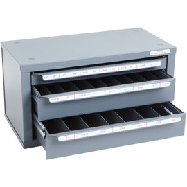 Huot 13590 | 6-32 to 1/2-20 Tap and Drill Dispenser Organizer Cabinet